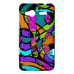 Abstract Sketch Art Squiggly Loops Multicolored HTC Radar Hardshell Case
