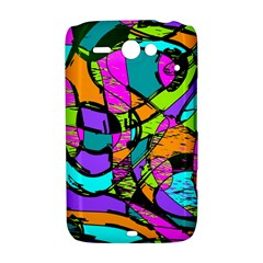 Abstract Sketch Art Squiggly Loops Multicolored HTC ChaCha / HTC Status Hardshell Case