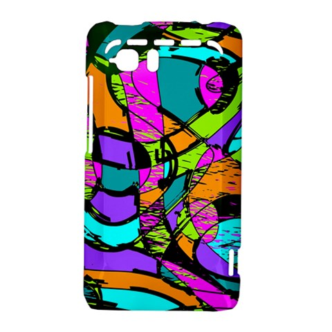 Abstract Sketch Art Squiggly Loops Multicolored HTC Vivid / Raider 4G Hardshell Case