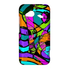 Abstract Sketch Art Squiggly Loops Multicolored HTC Droid Incredible 4G LTE Hardshell Case
