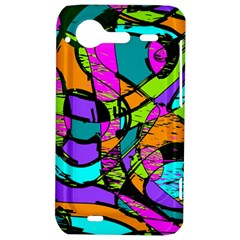 Abstract Sketch Art Squiggly Loops Multicolored HTC Incredible S Hardshell Case
