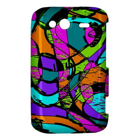 Abstract Sketch Art Squiggly Loops Multicolored HTC Wildfire S A510e Hardshell Case