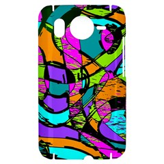 Abstract Sketch Art Squiggly Loops Multicolored HTC Desire HD Hardshell Case