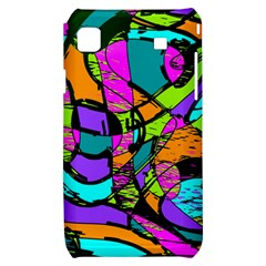 Abstract Sketch Art Squiggly Loops Multicolored Samsung Galaxy S i9000 Hardshell Case