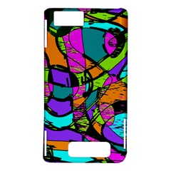 Abstract Sketch Art Squiggly Loops Multicolored Motorola DROID X2