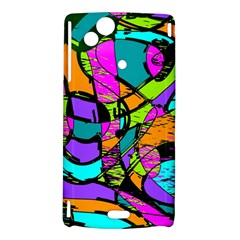 Abstract Sketch Art Squiggly Loops Multicolored Sony Xperia Arc
