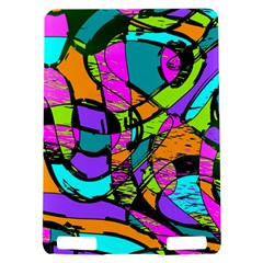 Abstract Sketch Art Squiggly Loops Multicolored Kindle Touch 3G