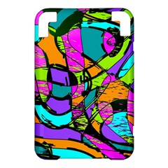 Abstract Sketch Art Squiggly Loops Multicolored Kindle 3 Keyboard 3G