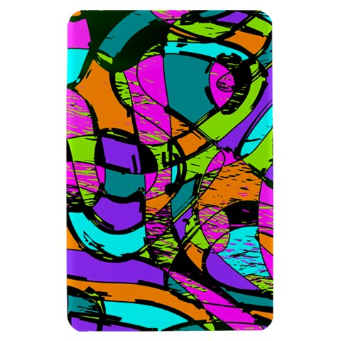 Abstract Sketch Art Squiggly Loops Multicolored Kindle Fire (1st Gen) Hardshell Case