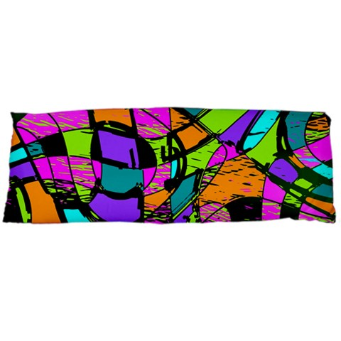Abstract Sketch Art Squiggly Loops Multicolored Body Pillow Case (Dakimakura)