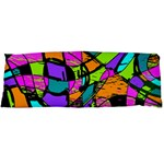 Abstract Sketch Art Squiggly Loops Multicolored Body Pillow Case Dakimakura (Two Sides) Back