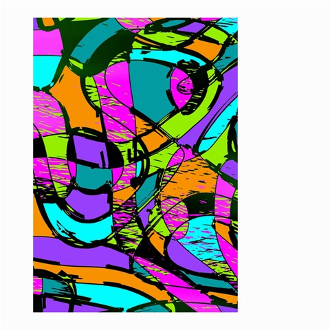 Abstract Sketch Art Squiggly Loops Multicolored Small Garden Flag (Two Sides)
