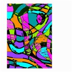 Abstract Sketch Art Squiggly Loops Multicolored Small Garden Flag (Two Sides) Front