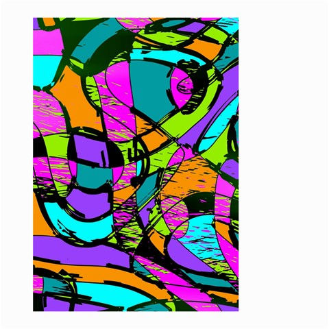 Abstract Sketch Art Squiggly Loops Multicolored Large Garden Flag (Two Sides)