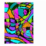Abstract Sketch Art Squiggly Loops Multicolored Large Garden Flag (Two Sides) Front