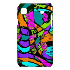 Abstract Sketch Art Squiggly Loops Multicolored Samsung Galaxy S i9008 Hardshell Case