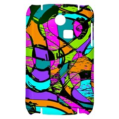 Abstract Sketch Art Squiggly Loops Multicolored Samsung S3350 Hardshell Case