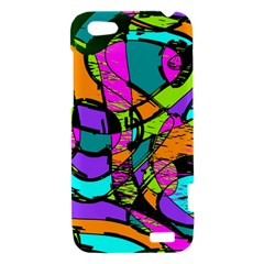 Abstract Sketch Art Squiggly Loops Multicolored HTC One V Hardshell Case
