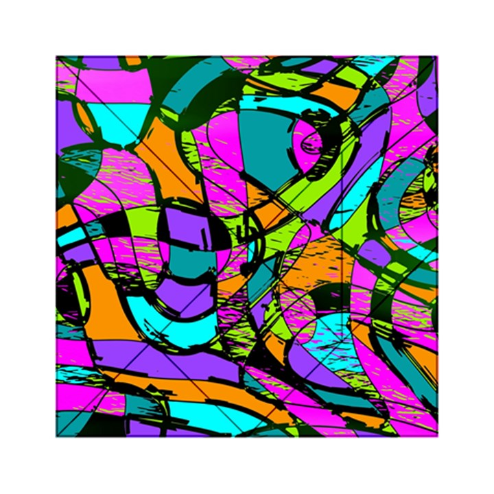 Abstract Sketch Art Squiggly Loops Multicolored Acrylic Tangram Puzzle (6  x 6 )