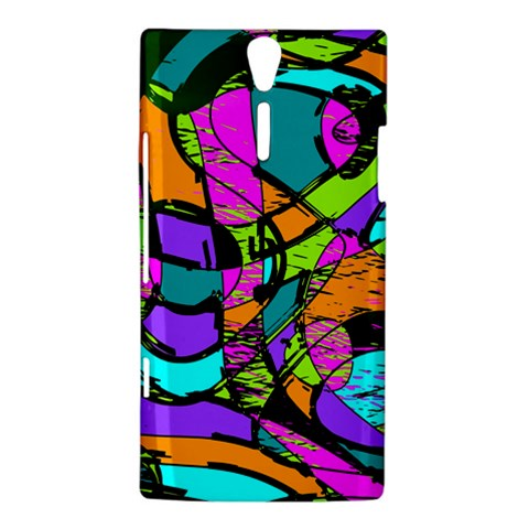Abstract Sketch Art Squiggly Loops Multicolored Sony Xperia S