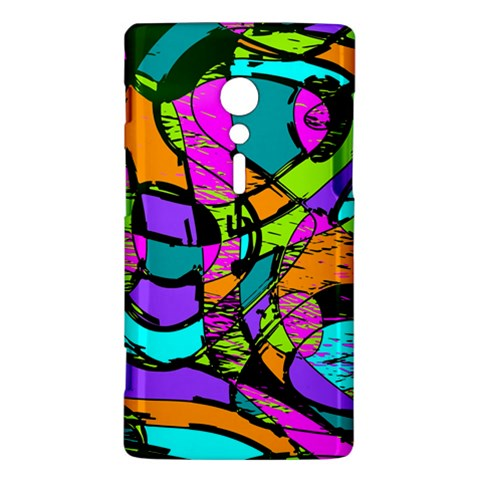 Abstract Sketch Art Squiggly Loops Multicolored Sony Xperia ion