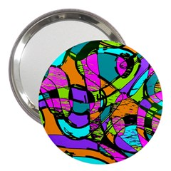 Abstract Sketch Art Squiggly Loops Multicolored 3  Handbag Mirrors