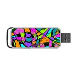 Abstract Sketch Art Squiggly Loops Multicolored Portable USB Flash (Two Sides) Back