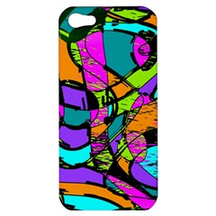 Abstract Sketch Art Squiggly Loops Multicolored Apple Iphone 5 Hardshell Case
