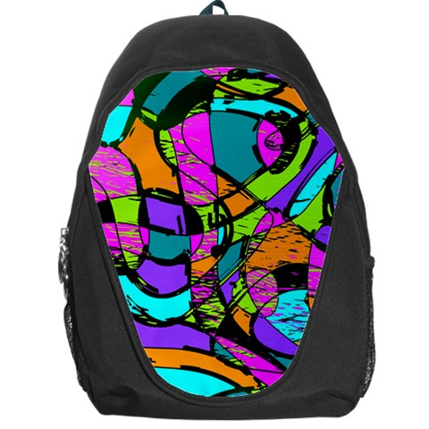 Abstract Sketch Art Squiggly Loops Multicolored Backpack Bag
