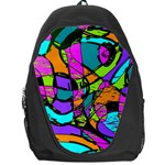 Abstract Sketch Art Squiggly Loops Multicolored Backpack Bag Front