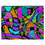 Abstract Sketch Art Squiggly Loops Multicolored Cosmetic Bag (XXXL)  Front