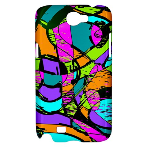 Abstract Sketch Art Squiggly Loops Multicolored Samsung Galaxy Note 2 Hardshell Case