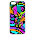 Abstract Sketch Art Squiggly Loops Multicolored Apple Seamless iPhone 5 Case (Clear) Front