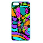 Abstract Sketch Art Squiggly Loops Multicolored Apple Seamless iPhone 5 Case (Color) Front