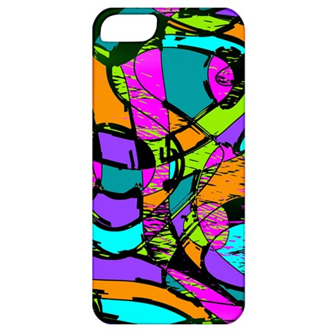 Abstract Sketch Art Squiggly Loops Multicolored Apple iPhone 5 Classic Hardshell Case