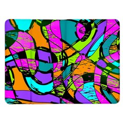 Abstract Sketch Art Squiggly Loops Multicolored Kindle Fire (1st Gen) Flip Case