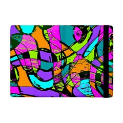 Abstract Sketch Art Squiggly Loops Multicolored Apple iPad Mini Flip Case