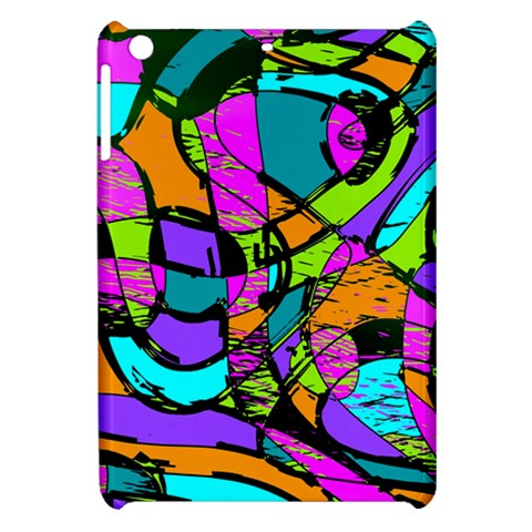 Abstract Sketch Art Squiggly Loops Multicolored Apple iPad Mini Hardshell Case