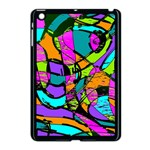 Abstract Sketch Art Squiggly Loops Multicolored Apple iPad Mini Case (Black) Front