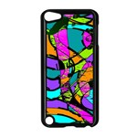 Abstract Sketch Art Squiggly Loops Multicolored Apple iPod Touch 5 Case (Black) Front