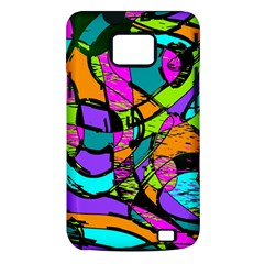 Abstract Sketch Art Squiggly Loops Multicolored Samsung Galaxy S II i9100 Hardshell Case (PC+Silicone)