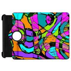 Abstract Sketch Art Squiggly Loops Multicolored Kindle Fire HD Flip 360 Case