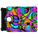 Abstract Sketch Art Squiggly Loops Multicolored Kindle Fire HD Flip 360 Case Front