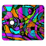 Abstract Sketch Art Squiggly Loops Multicolored Samsung Galaxy Note II Flip 360 Case Front