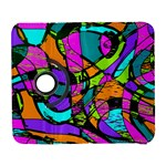 Abstract Sketch Art Squiggly Loops Multicolored Samsung Galaxy S  III Flip 360 Case Front