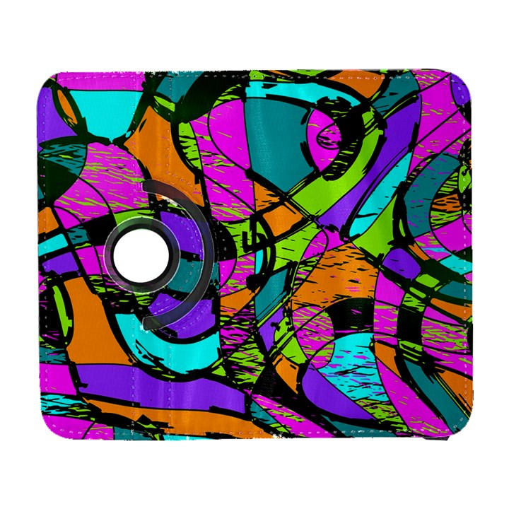 Abstract Sketch Art Squiggly Loops Multicolored Samsung Galaxy S  III Flip 360 Case