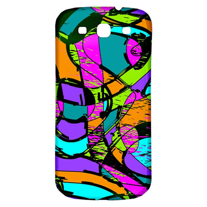 Abstract Sketch Art Squiggly Loops Multicolored Samsung Galaxy S3 S III Classic Hardshell Back Case
