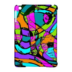 Abstract Sketch Art Squiggly Loops Multicolored Apple iPad Mini Hardshell Case (Compatible with Smart Cover)