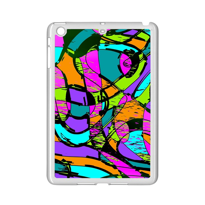 Abstract Sketch Art Squiggly Loops Multicolored iPad Mini 2 Enamel Coated Cases