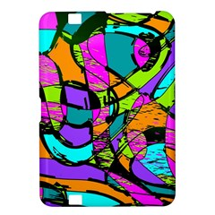 Abstract Sketch Art Squiggly Loops Multicolored Kindle Fire HD 8.9